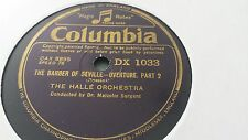 THE HALLE ORCHESTRA ROSSINI THE BARBER OF SEVILLE OVERTURE COLUMBIA DX1033