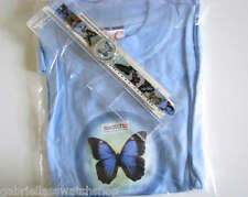 ITALIAN SET (SKY FLY)! Gorgeous BUTTERFLY LOVER'S Swatch w T-SHIRT! LTD-RARE!