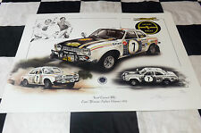 FORD ESCORT MK1 RS1600 HANNU MIKKOLA EAST AFRICAN RALLY 1972 NEW PAINTING PRINT