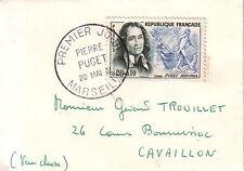 MARSEILLE - PIERRE PUGET - PREMIER JOUR LE 20-5-1961 - PETITE ENVELOPPE.