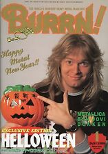 Burrn! Heavy Metal Magazine January 1989 Japan Helloween Metallica Dokken
