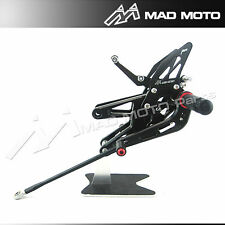 MAD MOTO YAMAHA R6 2003-2005 rearsets 2003 2004 2005  foot pegs black color