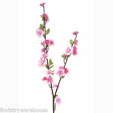 Artificial Spring Blossom Branch 90cm/35 Inch Fuchsia Pink Flower Decoration