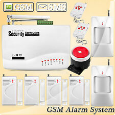 10A GSM SMS Auto Dial Wireless Home Security Alarm System Siren Sensor Detector