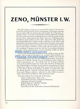 Zeno Zeitungsverleger Verband XL Reklame 1925 Verlag Zeitung Verleger Münster ad