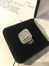 Stunning White Gold 2ct Diamond Cluster Cocktail Engagement Ring + Valuation