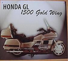 Altes Blechschild Oldtimer Motorrad Honda GL 1500 Gold Wing Werbung gebraucht