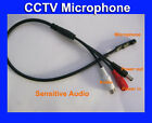 Mini-Mic-Audio-Microphone-Cable-for-CCTV Security Camera Mic Power Cable +Bonus