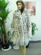 BRAND NEW NATURAL MONTANA LYNX BELLY FUR COAT JACKET WOMEN WOMAN SIZE ALL