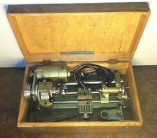 VINTAGE UNIMAT SL-1000 MINI LATHE TOOL w/ WOOD BOX MILLING AUSTRIAN METAL TOOL