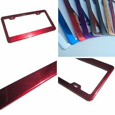 Powder Coated Red Chrome Stainless Steel License Plate Frame Bracket Holder New