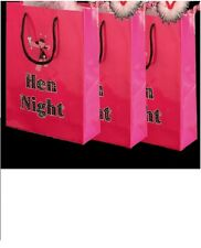 9 Hen Night Hot Pink Party Goodie Bags for Accessories Gifts & Party Packs