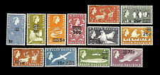 South Georgia. Flora & Fauna. Surcharged with New Value. 1971-72. MNH (38)