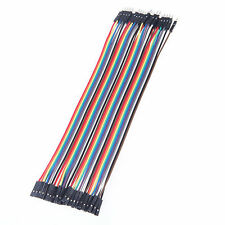 A row of 40 roots Jumper Wire Cable 1P-1P Male to Female For Arduino Breadboard