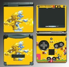 New Super Mario Bros 2 Gold Coins 3D World Video Game Skin Cover Nintendo GBA SP
