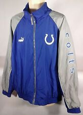 Indianapolis Colts PUMA NFL Embroidered Coat Windbreaker Jacket Blue Football XL