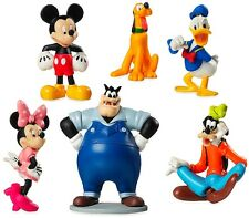MICKEY MOUSE CLUBHOUSE 6 Figure Set DISNEY PVC TOY Cake Topper PETE Minnie GOOFY