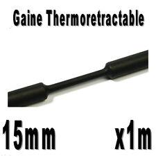 Gaine Thermo Rétractable 2:1 - Diam. 15 mm - Noir - 1m