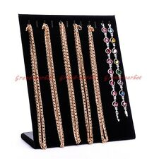 Luxury Cardboard Black Velvet Necklace Chain Jewelry Display Holder Stand Easel