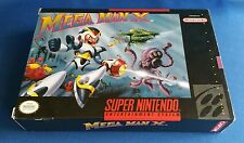 Mega Man X Super Nintendo SNES CIB- Near MINT-100% Authentic & Complete in Box!