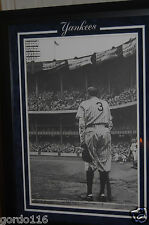 Babe Ruth Yankees Art Picture Image Bruce Peschel Numbered Signed Ltd Framed