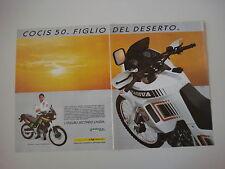 advertising Pubblicità 1990 MOTO CAGIVA COCIS 50 e EDI ORIOLI