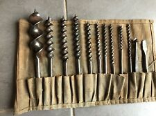 Set Of Vintage Hand Wood Auger Drill Bits Gilpins J. Howarth Whitehouse