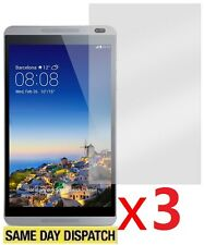 3 X Huawei MediaPad M1 8.0 Tablet Clear LCD Screen Protector Cover Gurad & Cloth
