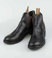 NIB RALPH LAUREN DOUBLE RL RRL U.S.A Congress Black Leather Boots Shoes 12 $1250