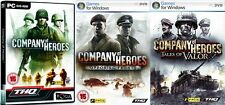company of heroes & opposing fronts & tales of valor   new&sealed