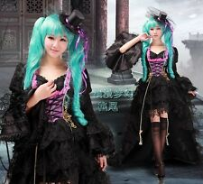 VOCALOID Lolita MIKU HATSUNE Cosplay GOTHIC costume dress