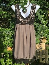 Quirky Hitch Artisan Dress Coachella Pixie M Gypsy Lagenlook Vintage Retro Hippy