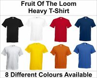 Fruit of the Loom Plain Heavy Cotton t-shirt - Blank Short Sleeve Tee