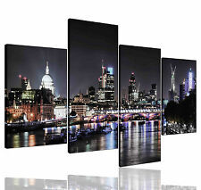 Not Framed Canvas Prints City London Skyline night Home Decor Wall Art Picture