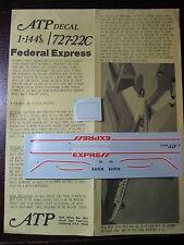 1/144 ATP DECALS BOEING 727-22C FEDERAL EXPRESS  DECALCOMANIE