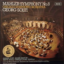 Mahler Symphony No. 8 Chicago Symphony Orchestra Georg Solti 2 LP-Box