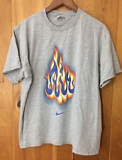 Nike Air Medium Flames Fire Shirt Vintage