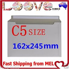 100x C5 Size 162x245mm Heavy Duty Envelope Card Mailer Tough Bag Cardboard Light