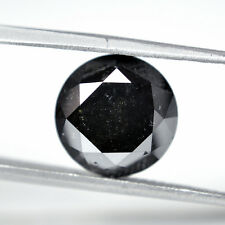 MAGNIFICIENT TOP QUALITY 8.81CTS ROUND CUT BLACK SOLITAIRE REAL DIAMOND FOR RING