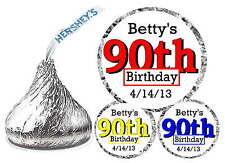 216 ~ 90th BIRTHDAY PARTY FAVORS HERSHEY KISS KISSES LABELS