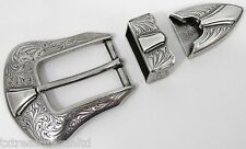 "BELT BUCKLES men's western casual dress golf accessories 3pc BUCKLE SET 1"" NWOT!"