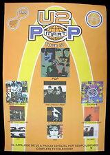 U2 Pop Mart Tour 1997 MEXICO Promo Only POSTER Bono Edge ZOO TV Minty!