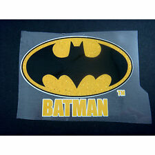 Super Hero Batman Logo Iron On Transfer T-Shirt For Fabrics Pyjamas Bag + CHARM