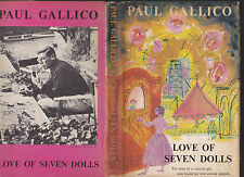 Love of Seven Dolls by Paul Gallico, 1954 1st US edition with dust jacket, NICE!