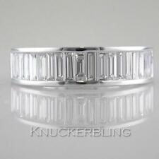 1.30ct Diamond Half Eternity Ring F VS Baguette Cut 18ct White Gold Wedding Band