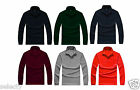 New Mens Long Sleeve Plain Polo Shirt Fashion Work Wear Shirt S M L XL XXL XXXL