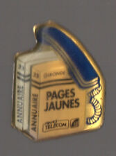 Pin's France Télécom / Annuaires pages jaunes et blanches (région Gironde)