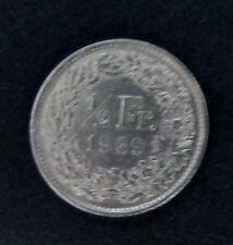 Münze 1/2 Schweizer Franken 1969 aus Umlauf gültiges Zahlungsmittel Sammler