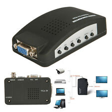 DC5V Composite S-video BNC TV to PC VGA CRT LCD Converter Adapter Box with Cable