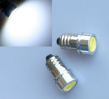 1x White E10 1447 Screw Lamp 1 COB LED Bulb 6V Volt for Torch bike bicycle MES
